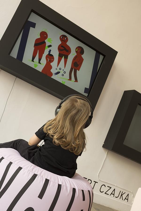 ilustracja dla dzieci - w przedszkolu